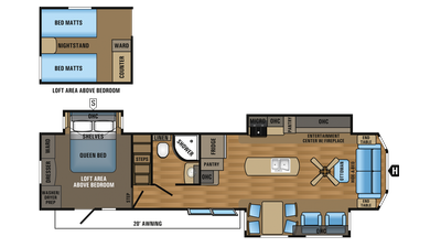 2018 Jay Flight Bungalow 40LOFT Floor Plan