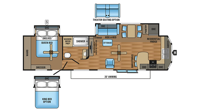 2018 Jay Flight Bungalow 40FKDS Floor Plan