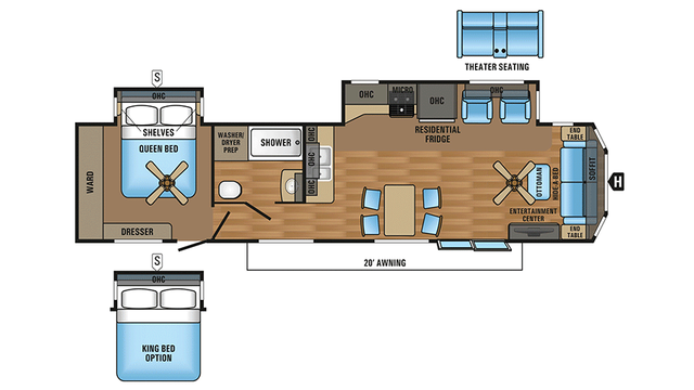 2018 Jay Flight Bungalow 40fsds Floor Plan