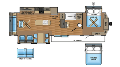 2018 Jay Flight Bungalow 40RLTS Floor Plan