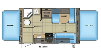 2018 Jay Feather X17Z Floor Plan