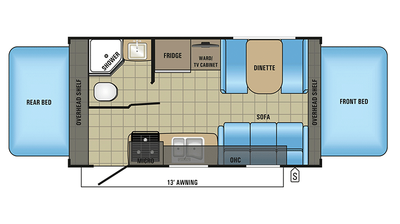 2018 Jay Feather X19H Floor Plan