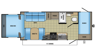 2018 Jay Feather X213 Floor Plan