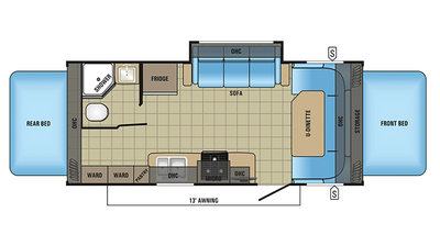 2018 Jay Feather X23B Floor Plan