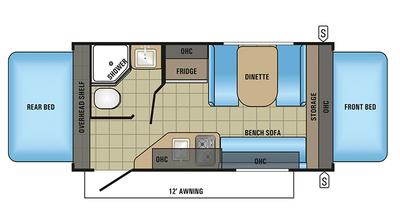 2018 Jay Feather 7 16xrb Floor Plan