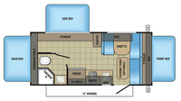 2018 Jay Feather 7 17XFD Floor Plan