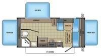 2018 Jay Feather 7 17XFD Floor Plan