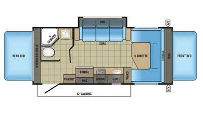 2018 Jay Feather 7 19XUD Floor Plan