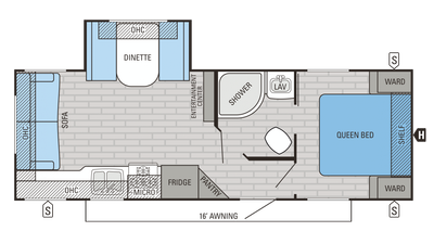 2016 Jay Flight SLX 245RLSW Floor Plan