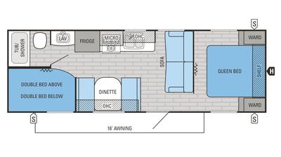 2016 Jay Flight SLX 264BHW Floor Plan