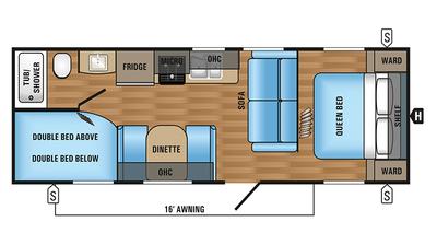 2018 Jay Flight SLX 264BH Floor Plan