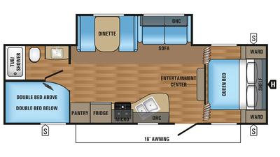 2018 Jay Flight SLX 267BHS Floor Plan