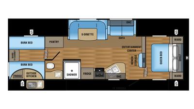 2018 Jay Flight SLX 294QBS Floor Plan