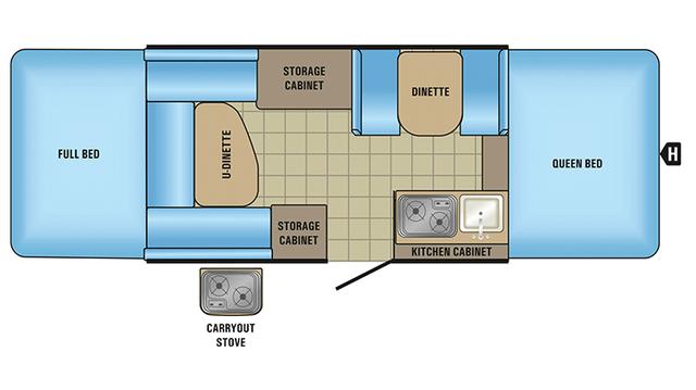 2018 Jay Sport 12UD Floor Plan