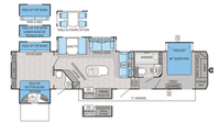 2016 North Point 375BHFS Floor Plan