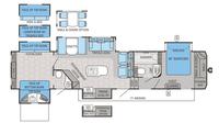 2016 North Point 375BHFS Floor Plan