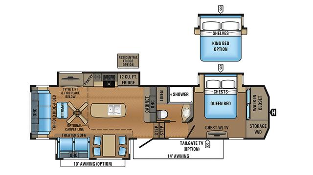 2018 North Point 315RLTS Floor Plan