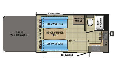 2018 Octane Super Lite 161 Floor Plan