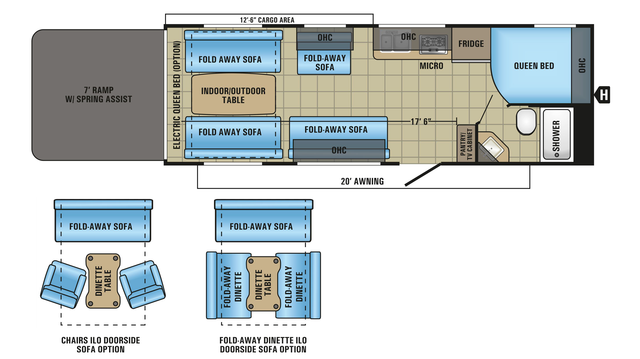 2018 Octane Super Lite 260 Floor Plan