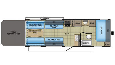 2018 Octane Super Lite 265 Floor Plan
