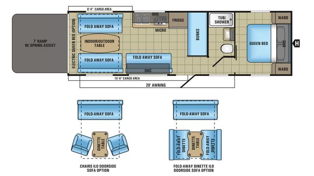 2018 Octane Super Lite 272 Floor Plan
