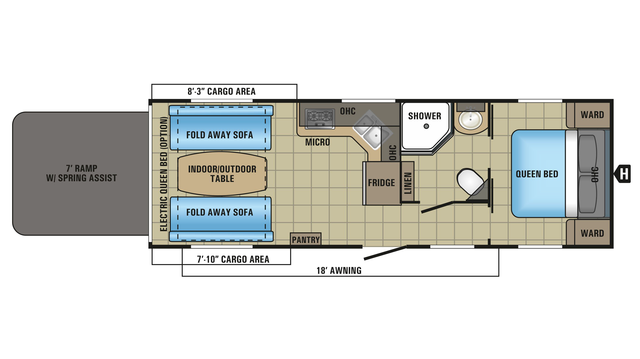 2018 Octane Super Lite 273 Floor Plan