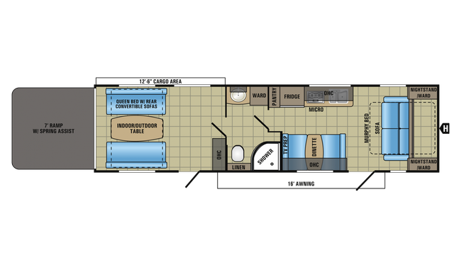 2018 Octane Super Lite 312 Floor Plan