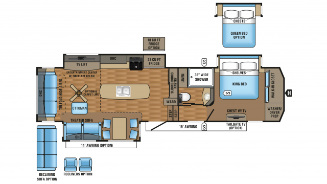 2018 Pinnacle 36KPTS Floor Plan