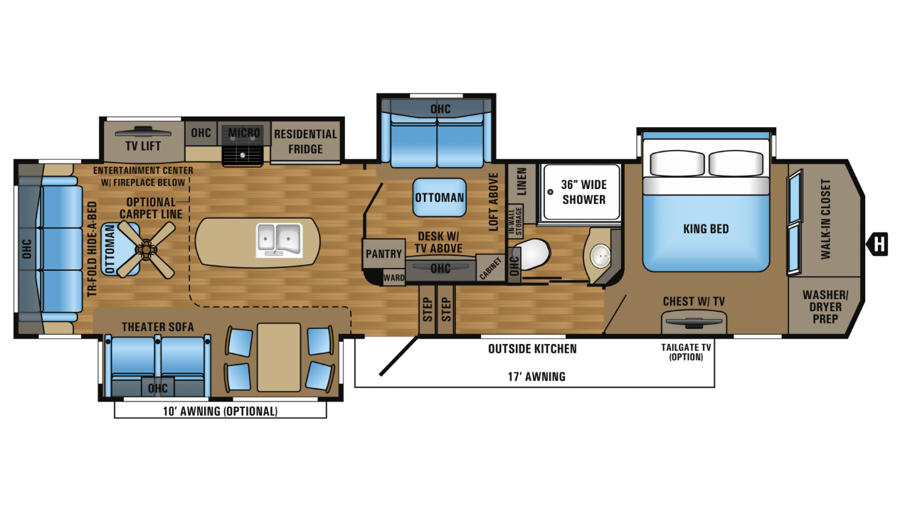 100 Jayco Fifth Wheel Floor Plans 2 Bedroom Motorhome 5th Wheel Coachmen Rv Chaparral