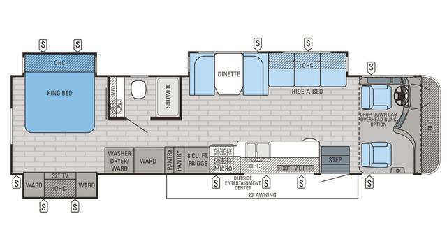 2016 Precept 35S Floor Plan