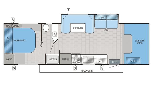 2016 Redhawk 29XK Floor Plan