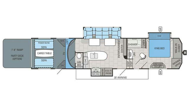 2016 Seismic Wave 412W Floor Plan