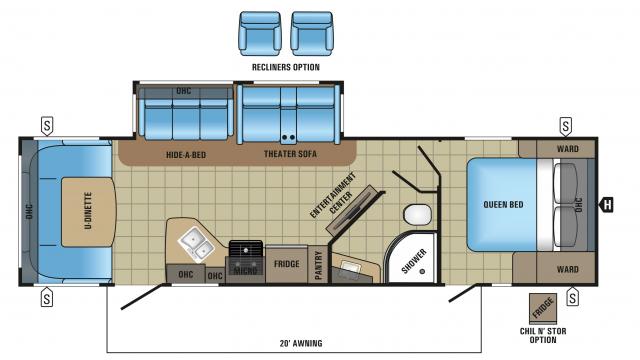 2018 White Hawk 30RD Floor Plan