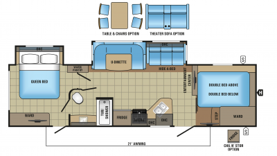 2018 White Hawk 31BH Floor Plan