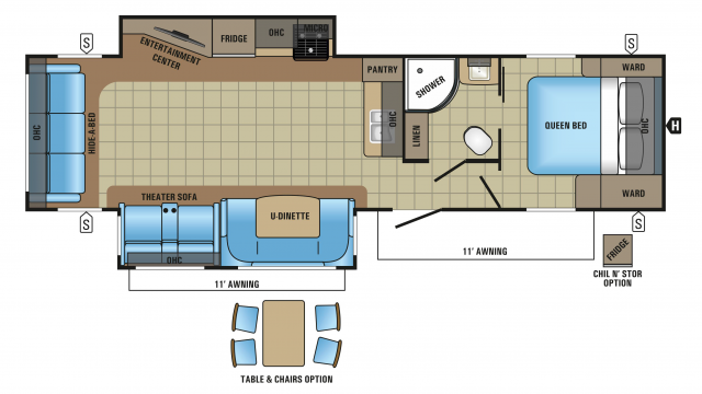 2018 White Hawk 31rl Floor Plan