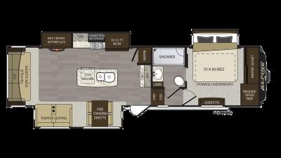 2018 Alpine 3400RS Floor Plan