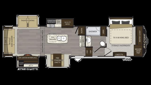 2018 Alpine 3500RL Floor Plan