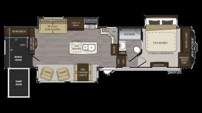 2018 Alpine 3900RE Floor Plan