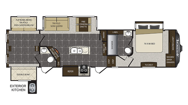 2017 Avalanche 391TG Floor Plan