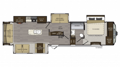 2018 Avalanche 365MB Floor Plan