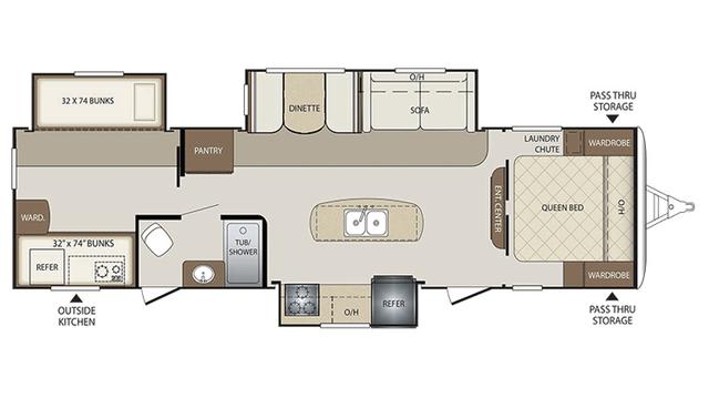 2016 Bullet 311BHS Floor Plan