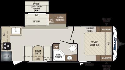 2019 Bullet 248RKS Floor Plan Img