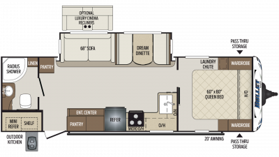 2019 Bullet 261RBS Floor Plan Img