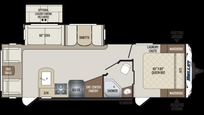 2019 Bullet 269RLS Floor Plan Img