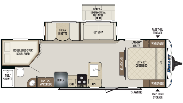 2019 Bullet 273BHS Floor Plan