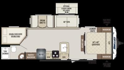 2019 Bullet 273BHS Floor Plan Img