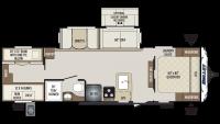 2019 Bullet 287QBS Floor Plan