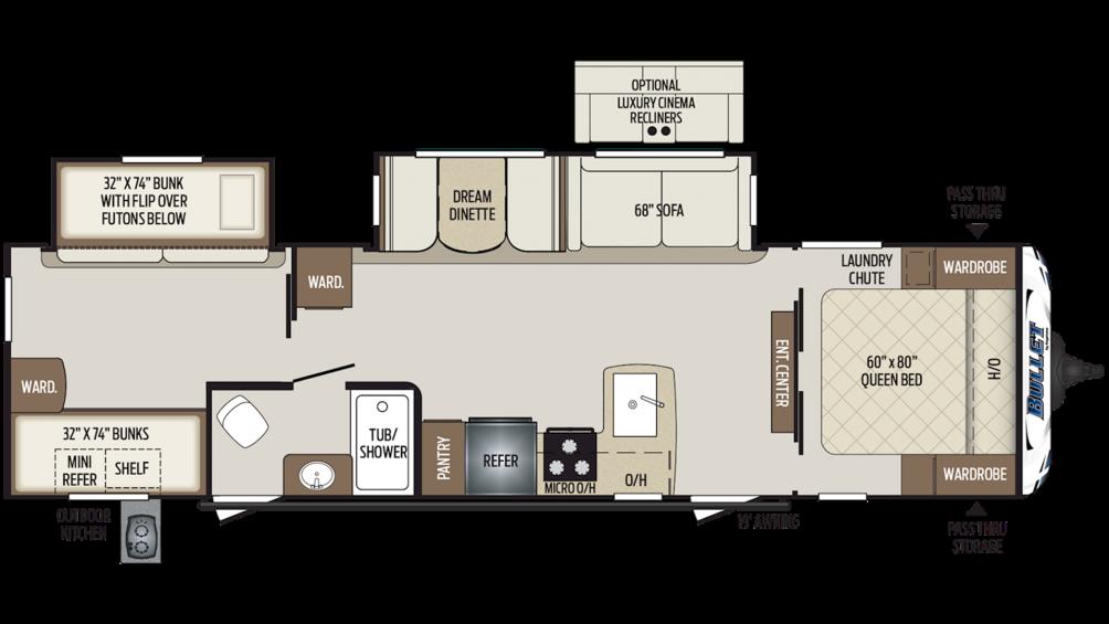 Keystone Bullet Rv Floor Plans: Keystone Bullet 308BHS Travel Trailer