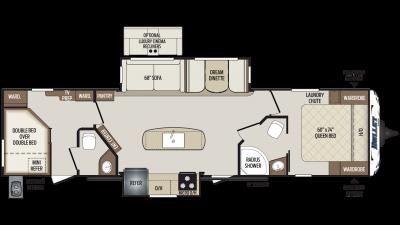 2019 Bullet 330BHS Floor Plan Img
