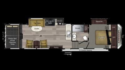 2018 Carbon 349 Floor Plan